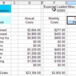 trucking expenses spreadsheet free templates