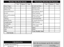 debt to income ratio spreadsheet free