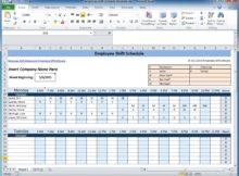 employee scheduling spreadsheet excel