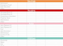 free home budget spreadsheet download