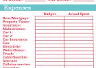 free household budget worksheet pdf