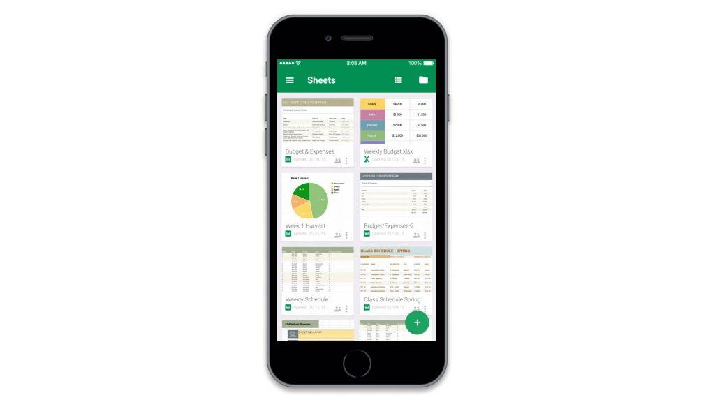 Google Spreadsheet On Iphone