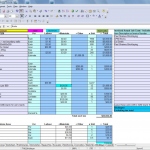 new home construction estimate spreadsheet free
